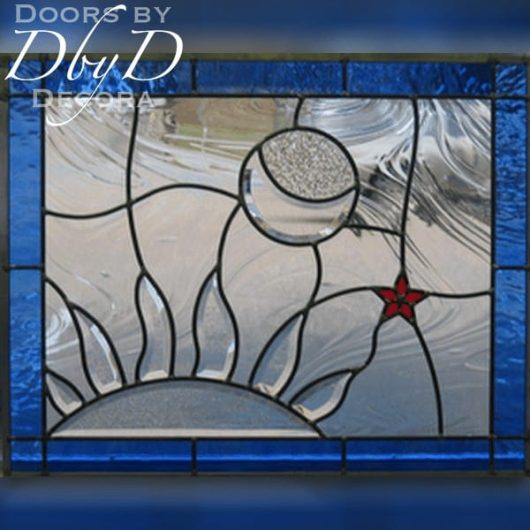 A unique piece of stained glass.