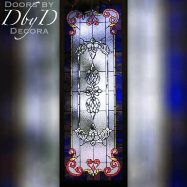 Large rectangular piece of stained glass.