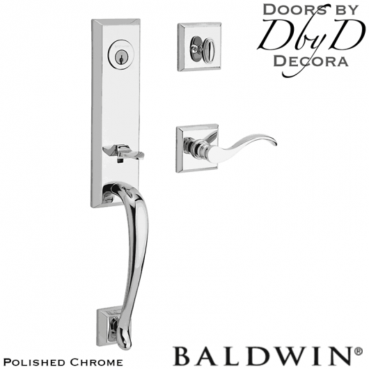 Baldwin reserve polished chrome del mar handleset.