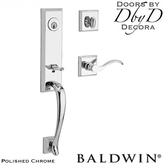 Baldwin reserve polished chrome del mar handleset.
