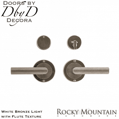 Rocky Mountain white bronze light e101/e101 round flute entry set.