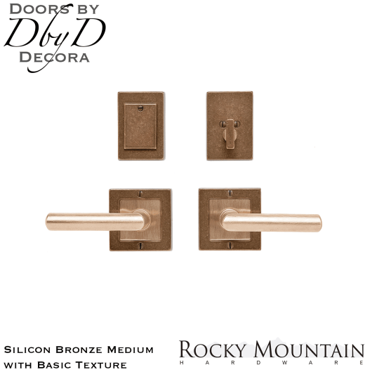 Rocky Mountain silicon bronze medium e103/e103 square textures entry set.