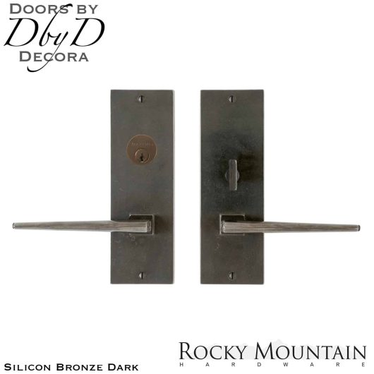 Rocky Mountain silicon bronze dark e10529/e10527 verdure entry set.