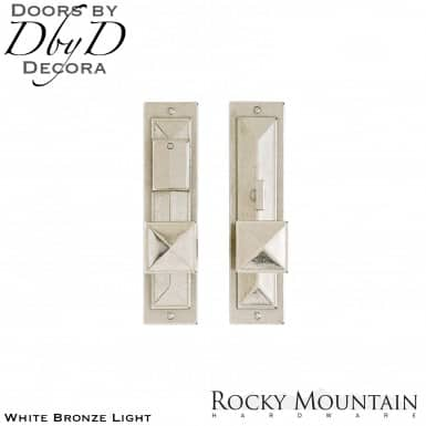 Rocky Mountain white bronze light e21058/e21057 mack entry set.