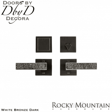 Rocky Mountain white bronze dark e30303/e30303 square trousdale entry set.
