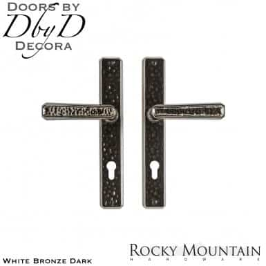 Rocky Mountain white bronze dark e30468/e30468 hammered multi-point entry set.
