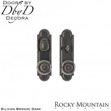 Rocky Mountain silicon bronze dark e30608/e30607 corbel arched entry set.