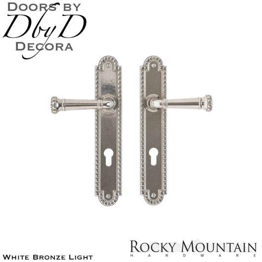 Rocky Mountain white bronze light e30668/e30668 corbel arched multi-point entry set.