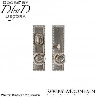 Rocky Mountain white bronze brushed e30708/e30707 corbel entry set.