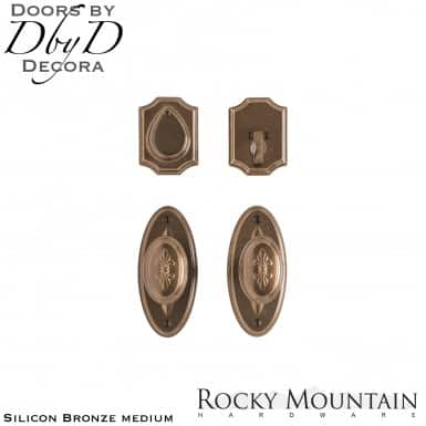 Rocky Mountain silicon bronze medium e30806/e30806 oval bordeaux entry set.