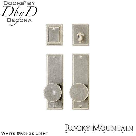 Rocky Mountain white bronze light e308/e308 stepped entry set.