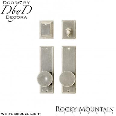 Rocky Mountain white bronze light e308/e308 stepped entry set.