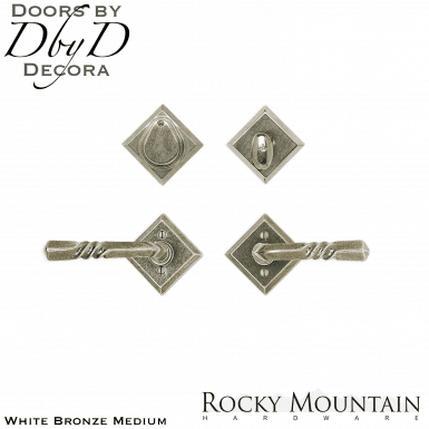 Rocky Mountain white bronze medium e415/e415 diamond entry set.