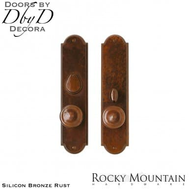 Rocky Mountain silicon bronze rust e729/e728 arched entry set.