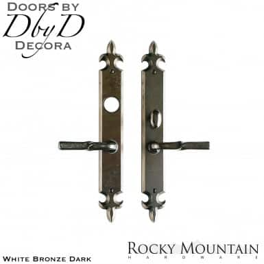 Rocky Mountain white bronze dark e823/e821 flour dis lis entry set.