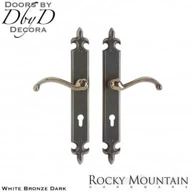 Rocky Mountain white bronze dark e825/e825 flour de lis multi-point entry set.
