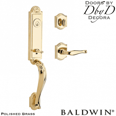 Baldwin reserve polished brass elizabeth handleset.