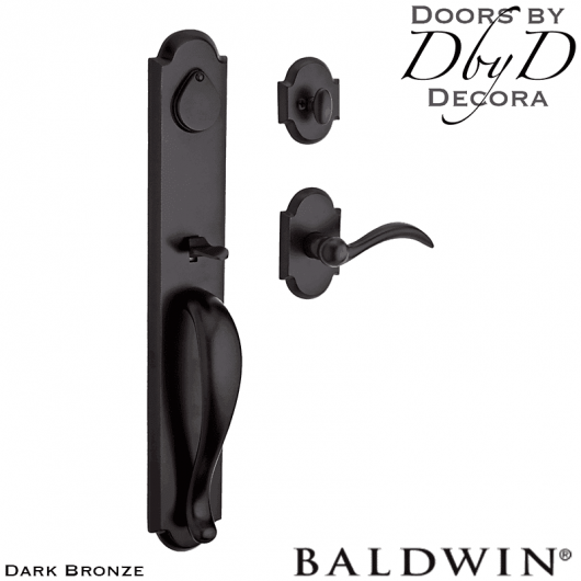 Baldwin reserve dark bronze elk horn handleset.