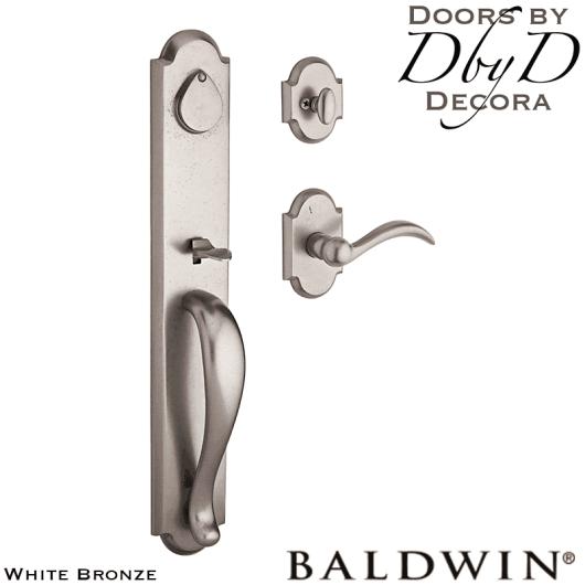 Baldwin white bronze elk horn handleset.