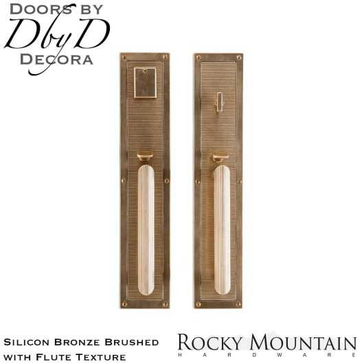 Rocky Mountain silicon bronze brushed g130/g132 flute handleset.
