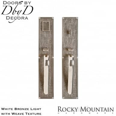 Rocky Mountain white bronze light g130/g132 weave handleset.