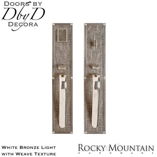 Rocky Mountain white bronze light g130/g132 weave handleset.