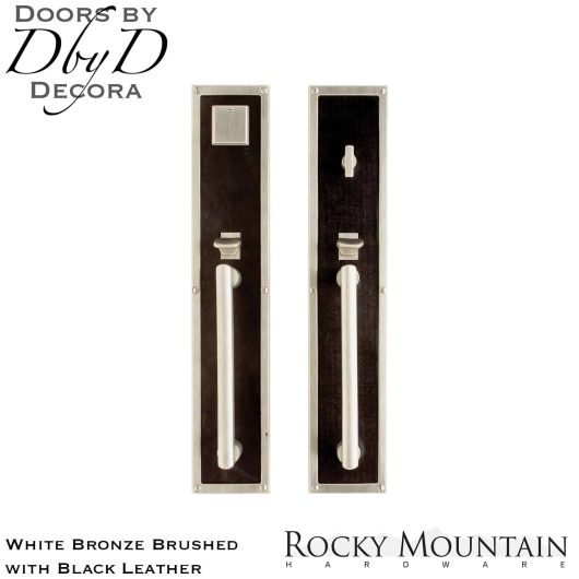Rocky Mountain white bronze brushed g130/g132 black leather handleset.