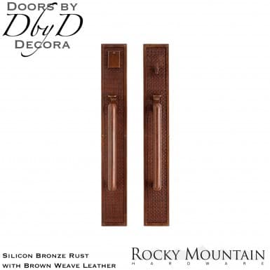 Rocky Mountain silicon bronze rust g135/g136 brown weave leather handleset.
