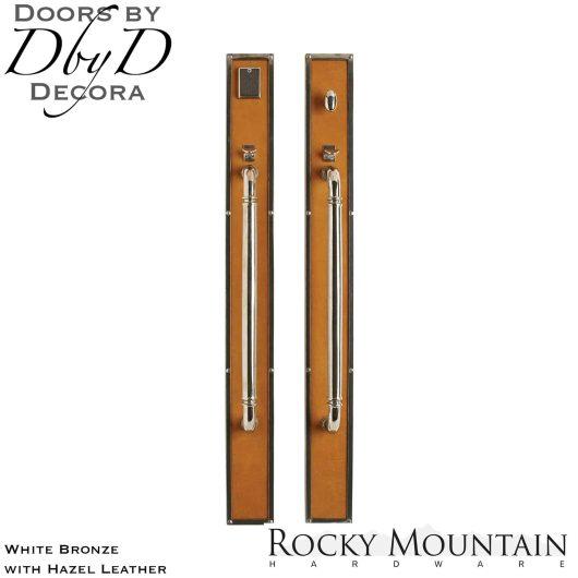 Rocky Mountain white bronze g145/g146 leather handleset.