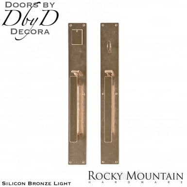Rocky Mountain silicon bronze light g242/g241 metro handleset.