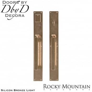 Rocky Mountain silicon bronze light g242/g241 metro handleset.