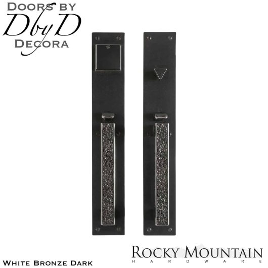 Rocky Mountain white bronze dark g30333/g30332 trousdale handleset.