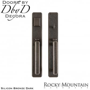 Rocky Mountain silicon bronze dark g30433/g30432 hammered handleset.
