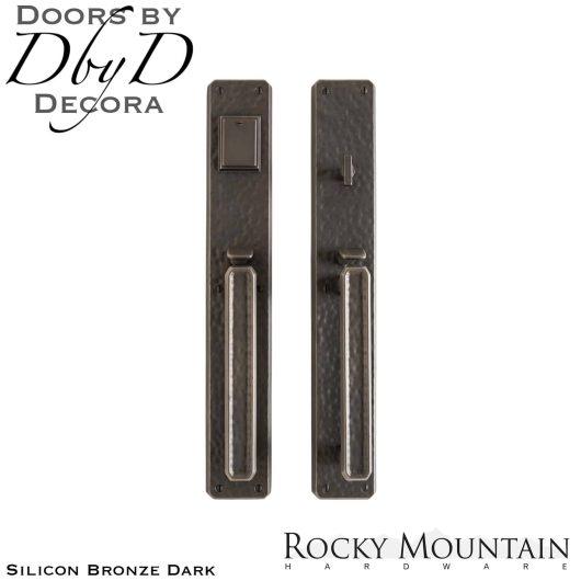 Rocky Mountain silicon bronze dark g30433/g30432 hammered handleset.
