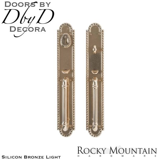 Rocky Mountain silicon bronze light g30633/g30632 corbel arched handleset.