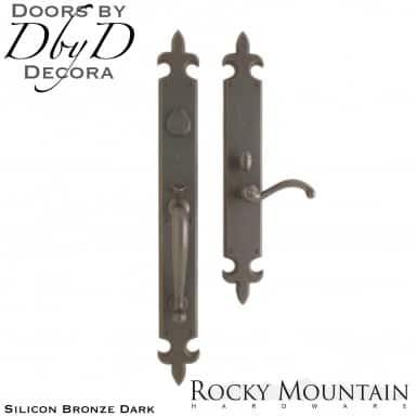 Rocky Mountain silicon bronze dark g841/g831 flour de lis handleset.