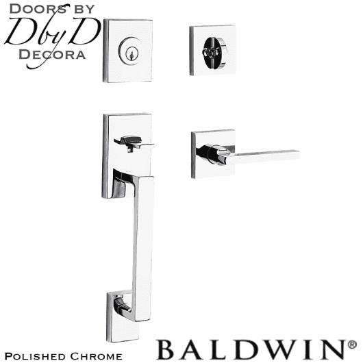 Baldwin reserve polished chrome la jolla handleset.