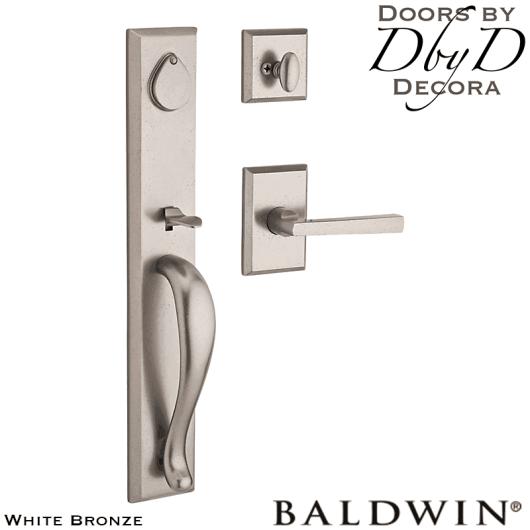 Baldwin reserve white bronze longview handleset.