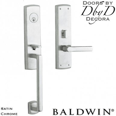 Baldwin satin chrome soho handleset.
