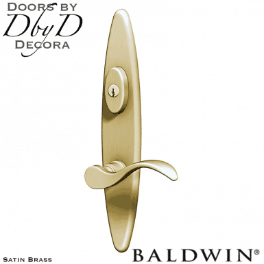 Baldwin satin brass springfield multi-point entry set.