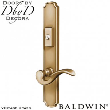Baldwin vintage brass bismarck multi-point entry set.