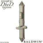 Baldwin satin nickel kensington multi-point entry set.