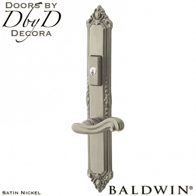 Baldwin satin nickel kensington multi-point entry set.