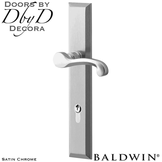 Baldwin satin chrome concord multi-point entry set.