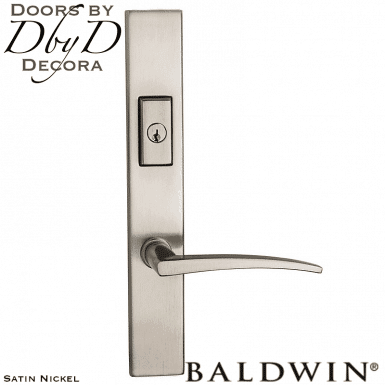 Baldwin satin nickel santa monica multi-point entry set.