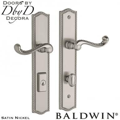 Baldwin satin nickel brixton multi-point entry set.