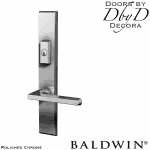 Baldwin polished chrome lakeshore multi-point entry set.