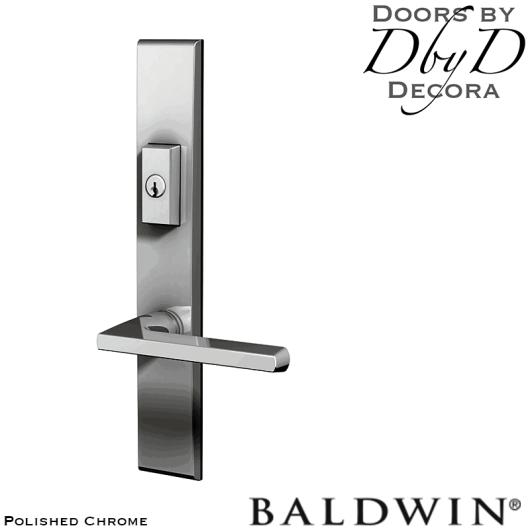 Baldwin polished chrome lakeshore multi-point entry set.
