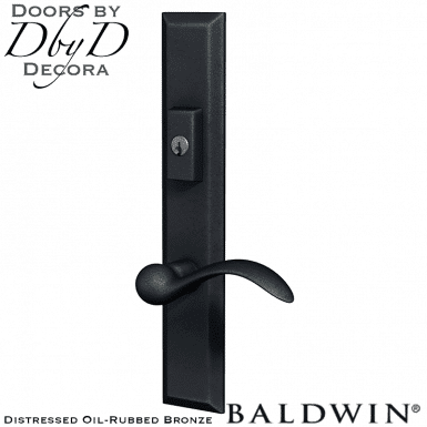 Baldwin distressed oil-rubbed bronze cody multi-point entry set.
