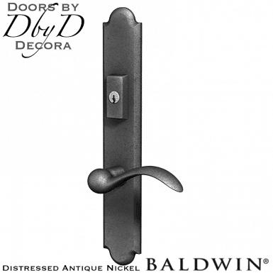 Baldwin distressed antique nickel boulder multi-point entry set.